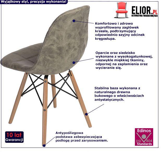 Wyjąkowy fotel Roks - oliwkowy