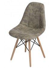 Pikowany fotel Roks - oliwka