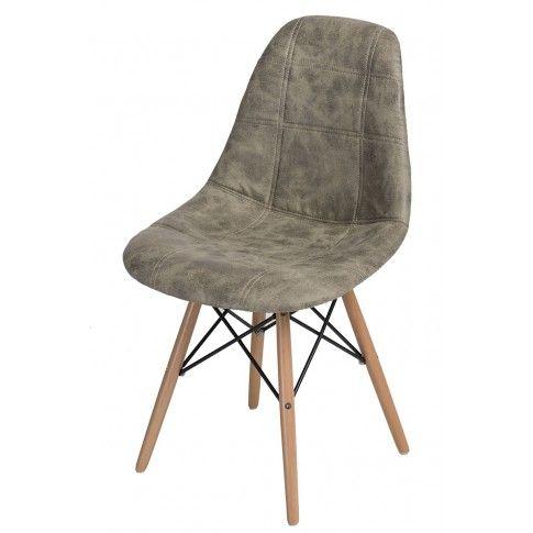 Zdjęcie produktu Pikowany fotel Roks - oliwka.