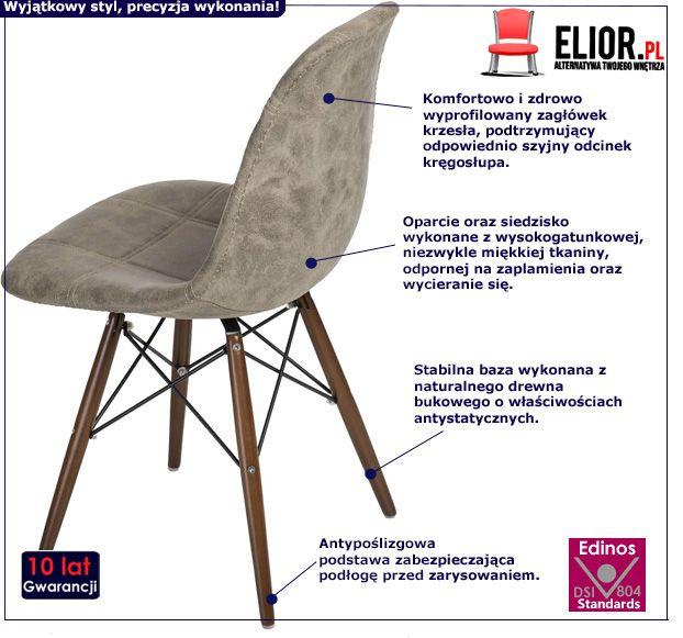 Stylowy fotel Roks - oliwkowy