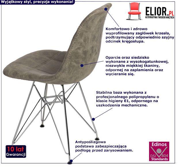 Modny fotel pikowany Roks 2X - oliwkowy