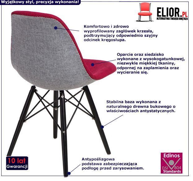 Stylowy fotel Balti - różowy