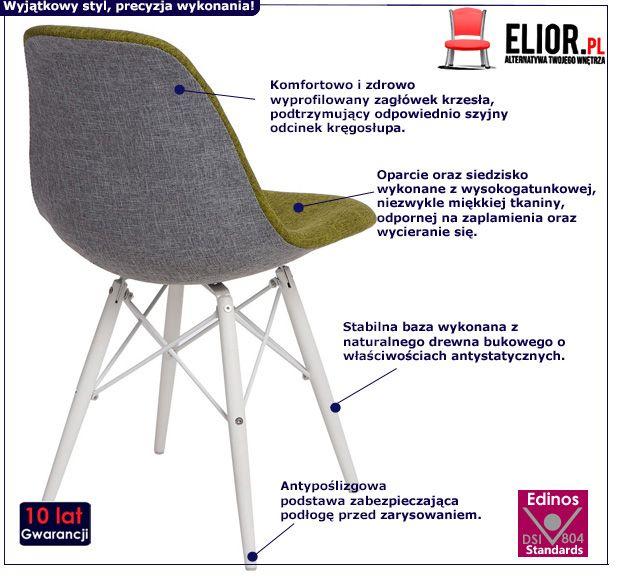 Stylowy fotel Balti - zielony