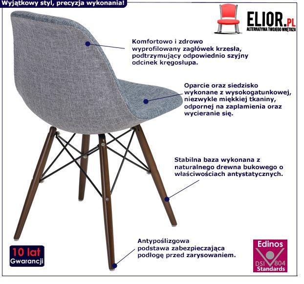 Piękny fotel retro Balti - szary