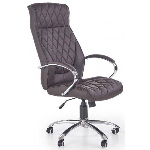 Zdjęcie produktu Pikowany fotel obrotowy Sevian - czekoladowy.