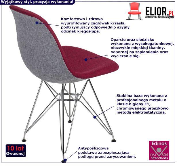Stylowy fotel Balti 2X - czerwony