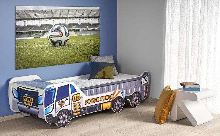 Regulowane łóżko dla chłopca auto ciężarowe Livan