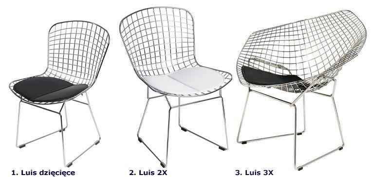 Nowoczesne krzesła Luis - metalowe