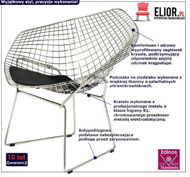 Industrialne krzesło Luis 3X - czarne