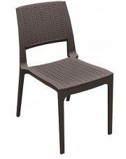 Krzesło Ario - brązowe w sklepie Edinos.pl