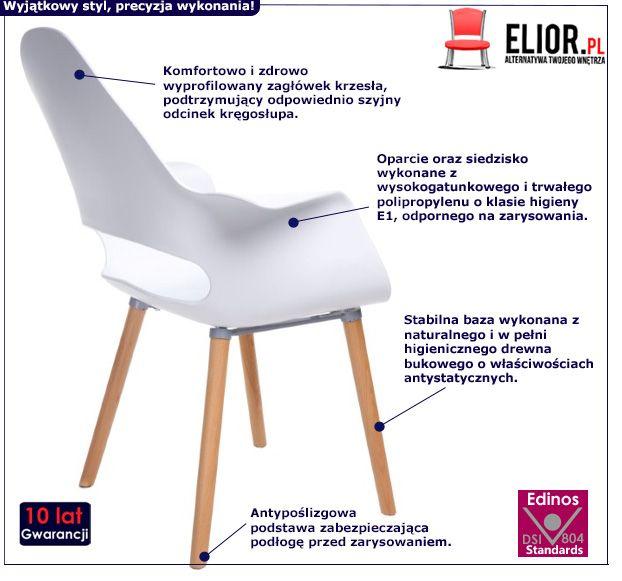 Skandynawskie krzesło Otrio 2X - białe
