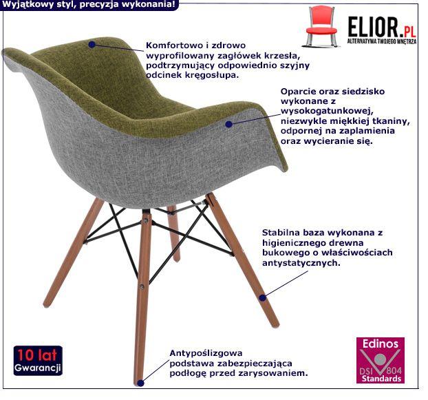 Stylowy fotel Belio - zielony