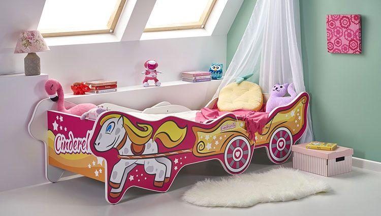 Dziewczęce łóżko z regulowaną długością kareta Fifi