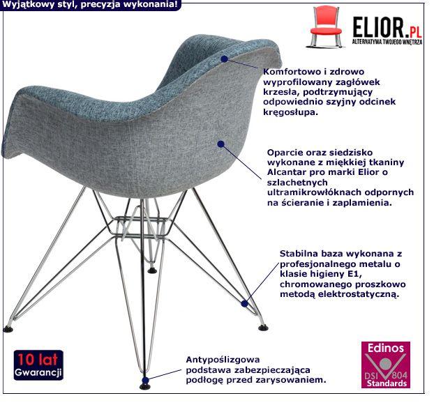 Stylowy fotel Belio 2X - niebieski