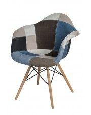 Vintage fotel Bimmi - patchwork w sklepie Edinos.pl