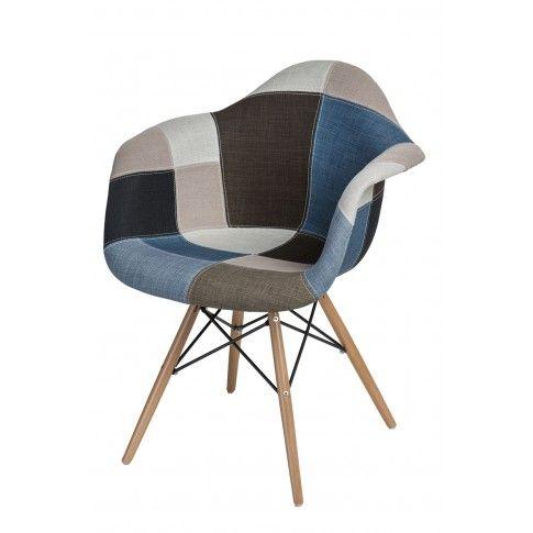Zdjęcie produktu Vintage fotel z podłokietnikami Bimmi - patchwork.
