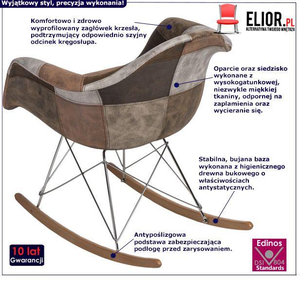 Stylowy fotel Bimmi 3X - bujany