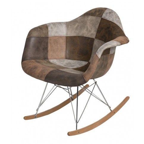 Zdjęcie produktu Bujany fotel Bimmi 3X - patchwork.