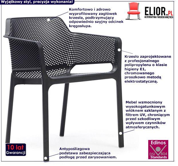Modne krzesło Farry - czarne