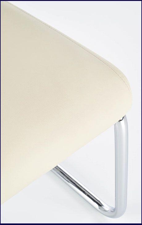 Białe krzesło w nowoczesnym stylu Tilon