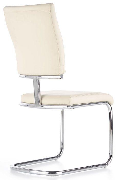 Białe krzesło tapicerowane do stołu Tilon