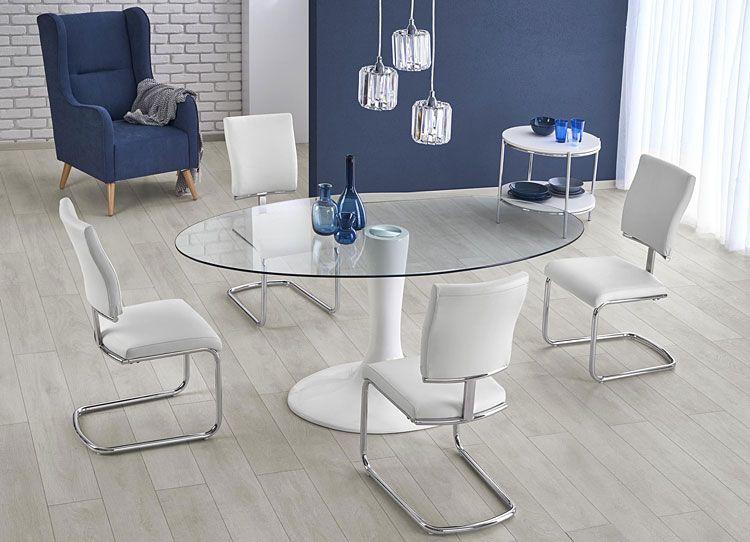 Białe krzesło do kuchni, salonu, jadalni Tilon
