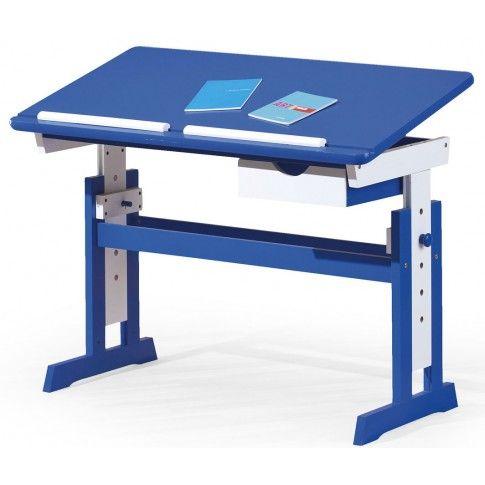 Zdjęcie produktu Biurko regulowane Exton - niebieskie.