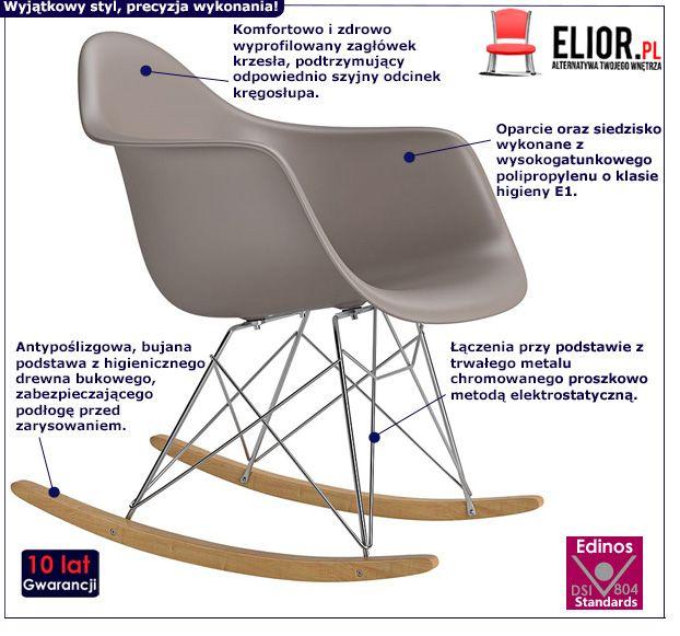 Bujane krzesło Paleo - beżowe