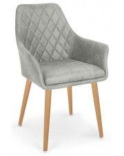 Krzesło pikowane Syvis - popielate