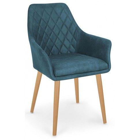 Zdjęcie produktu Krzesło pikowane Syvis - granatowe.