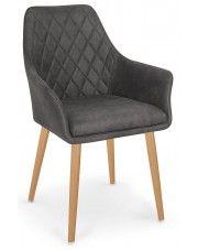 Krzesło pikowane Syvis - ciemny brąz w sklepie Edinos.pl