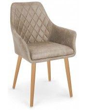 Krzesło pikowane Syvis - beżowe w sklepie Edinos.pl