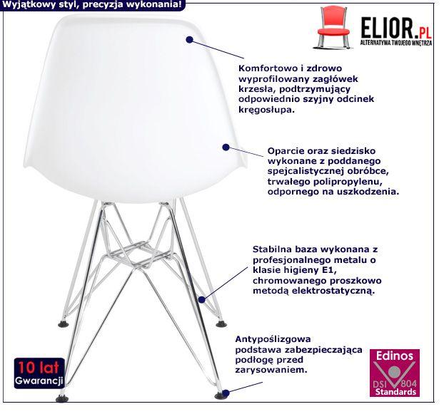 Modne krzesło Rokus - białe