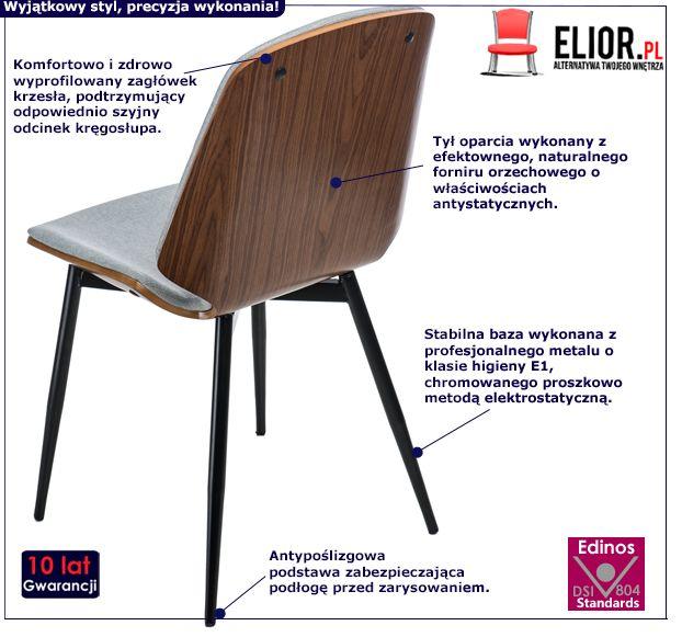 Stylowe krzesło Fabrio - vintage