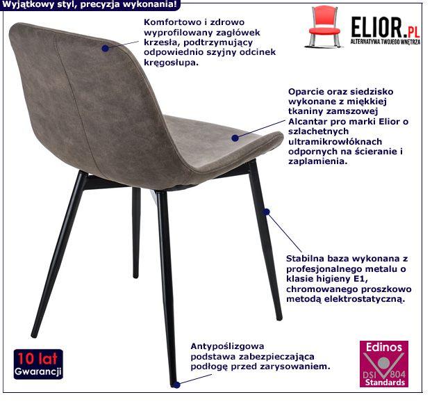 Stylowe krzesło Puffo - brązowe
