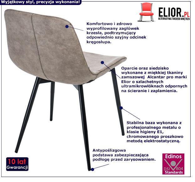 Modne krzesło Tullo - beżowe