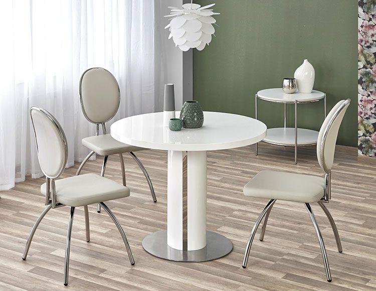 Szare krzesło tapicerowane do kuchni, salonu Minger