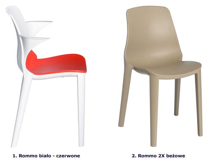 Minimalistyczne krzesło Rommo - na taras