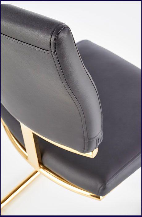 Czarne krzesło tapicerowane do jadalni Doran