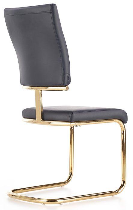 Czarne krzesło w nowoczesnym stylu do salonu Doran