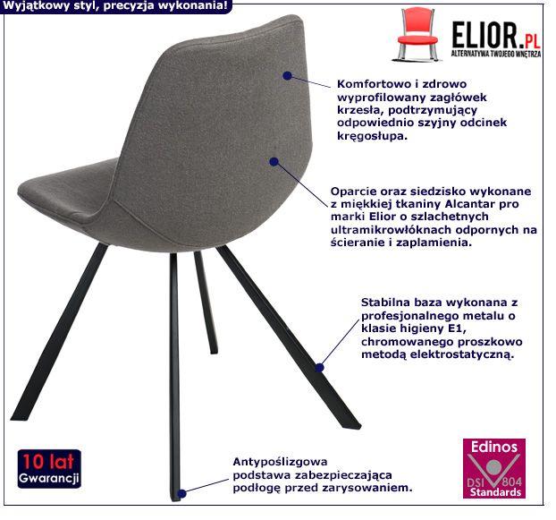 Minimalistyczny fotel Rosti - szary