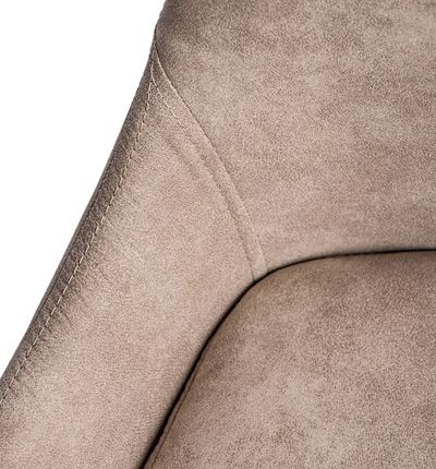 Modernistyczny fotel Amar - beżowo czarny