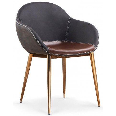 Zdjęcie produktu Krzesło Fiver - popiel + złote.