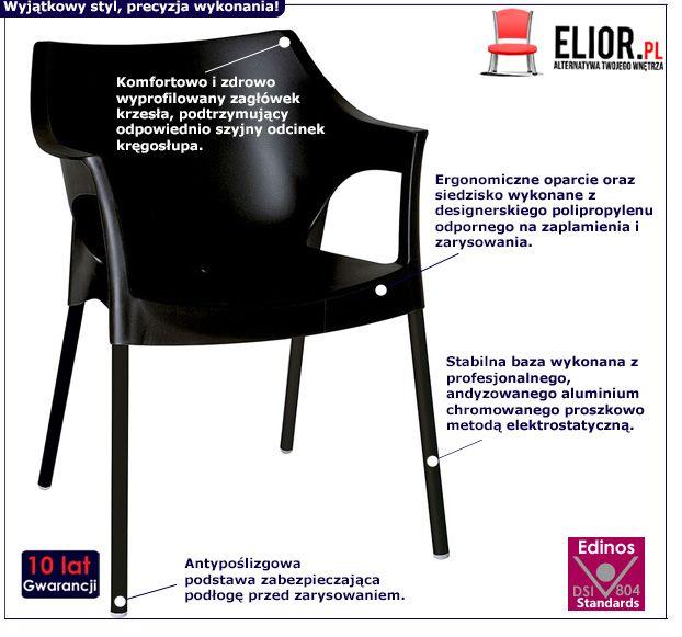 Modne krzesło Zafiks - czarne