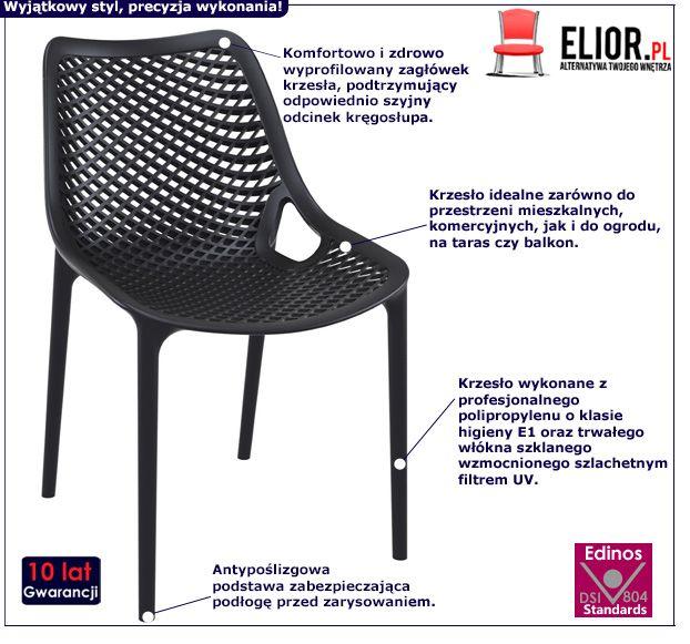 Modne krzesło Lofti - czarne