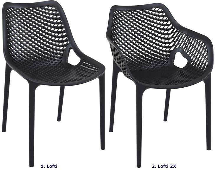 Industrialne krzesło Lofti czarne - do ogrodu
