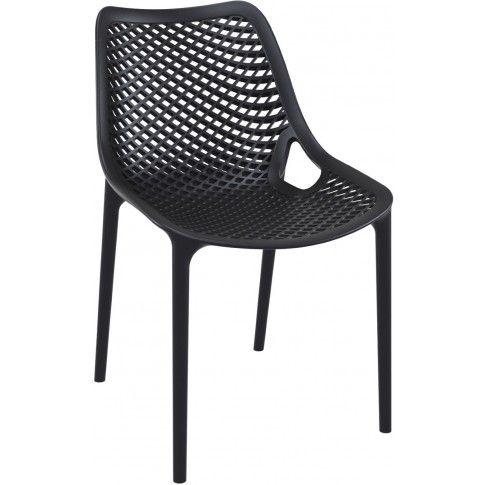 Zdjęcie produktu Krzesło ażurowe Lofti - czarne.