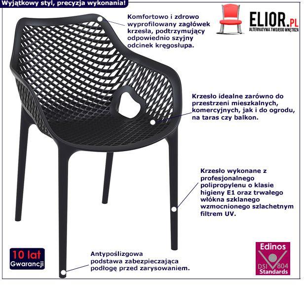 Loftowe krzesło Lofti 2X - czarne