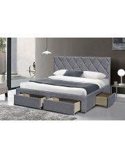 Łóżko Rosea 160x200 - szare