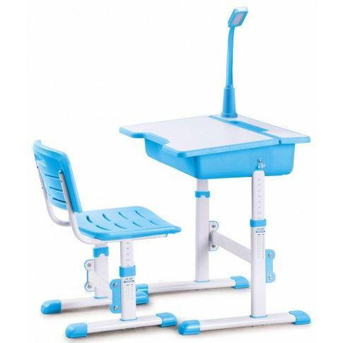 Zdjęcie produktu Biurko z krzesełkiem i lampką Fango - niebieskie.